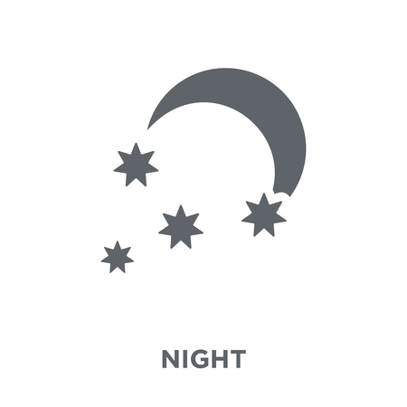 Night icon. Night design concept from  collection. Simple element vector illustration on white background.