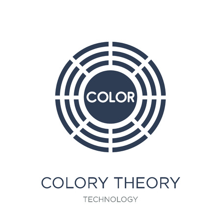 Colory theory icon. Trendy flat vector Colory theory icon on white background from Technology collection, vector illustration can be use for web and mobile, eps10