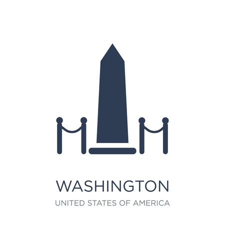 Washington monument icon. Trendy flat vector Washington monument icon on white background from United States of America collection, vector illustration can be use for web and mobile, eps10