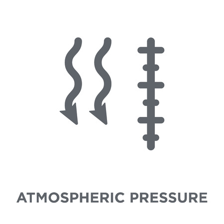 atmospheric pressure icon. atmospheric pressure design concept from Weather collection. Simple element vector illustration on white background.