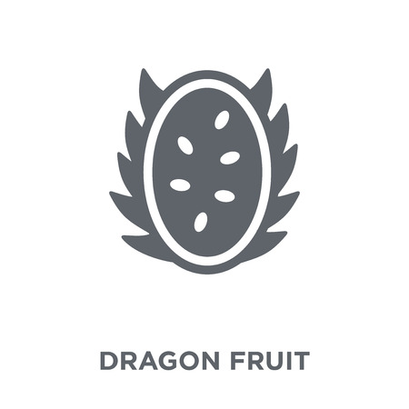 Dragon fruit icon. Dragon fruit design concept from Fruit and vegetables collection. Simple element vector illustration on white background.