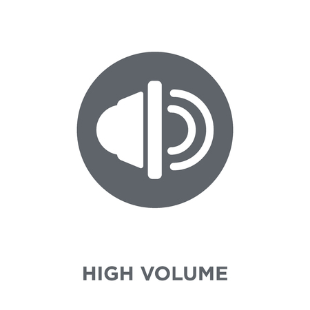 High Volume icon. High Volume design concept from  collection. Simple element vector illustration on white background. Stockfoto - 112416806