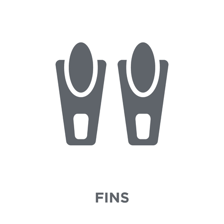 Fins icon. Fins design concept from Summer collection. Simple element vector illustration on white background.