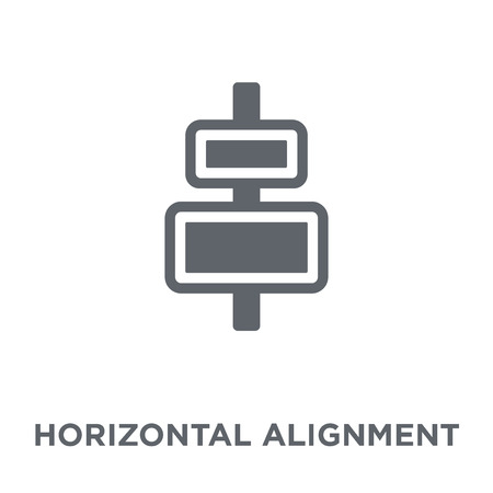 Horizontal alignment icon. Horizontal alignment design concept from Webnavigation collection. Simple element vector illustration on white background.