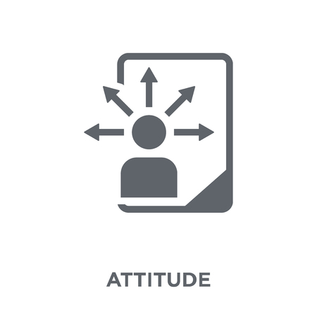 Attitude icon. Attitude design concept from  collection. Simple element vector illustration on white background. Stock Illustratie
