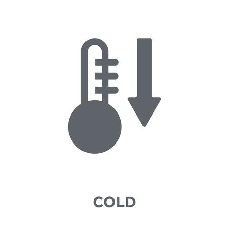 Icône froide. Concept de design froid de la collection. Illustration vectorielle élément simple sur fond blanc.