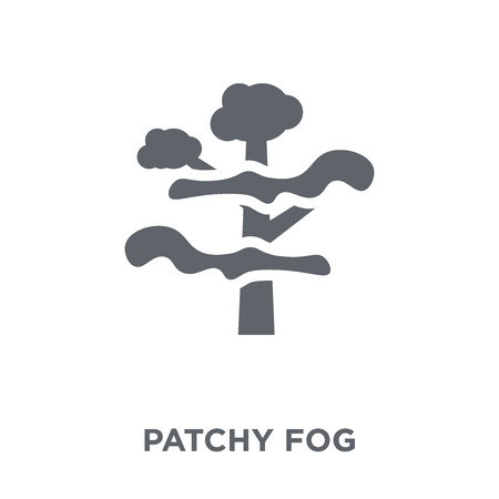 patchy fog icon. patchy fog design concept from Weather collection. Simple element vector illustration on white background. Ilustração
