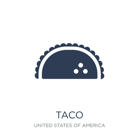 Taco icon. Trendy flat vector Taco icon on white background from United States of America collection, vector illustration can be use for web and mobile, eps10