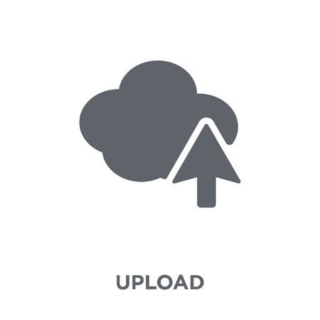 Upload icon. Upload design concept from  collection. Simple element vector illustration on white background. Illustration