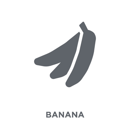 Banana icon. Banana design concept from Fruit and vegetables collection. Simple element vector illustration on white background. Foto de archivo - 112417174