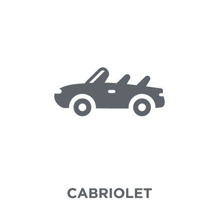 Cabriolet icon. Cabriolet design concept from Transportation collection. Simple element vector illustration on white background. Illustration
