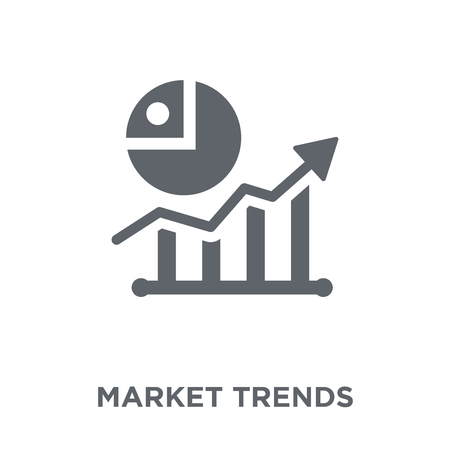 Market trends icon. Market trends design concept from Economyandfinance collection. Simple element vector illustration on white background.