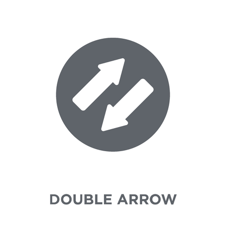 Double arrow icon. Double arrow design concept from collection. Simple element vector illustration on white background.