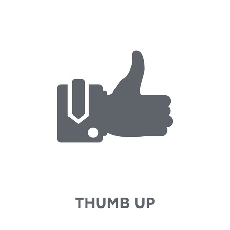 Thumb up icon. Thumb up design concept from  collection. Simple element vector illustration on white background. Фото со стока - 112417182