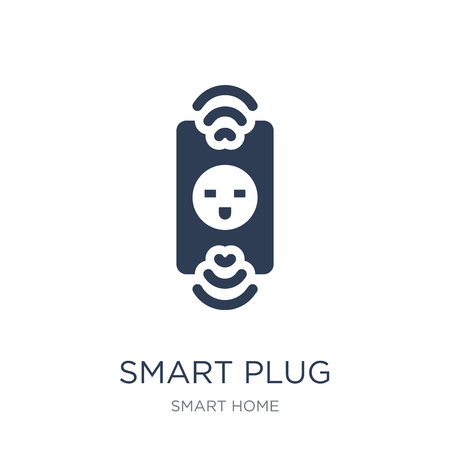 smart Plug icon. Trendy flat vector smart Plug icon on white background from smart home collection, vector illustration can be use for web and mobile, eps10