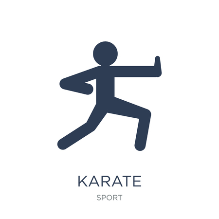 Karate icon. Trendy flat vector Karate icon on white background from sport collection, vector illustration can be use for web and mobile, eps10 Ilustracja