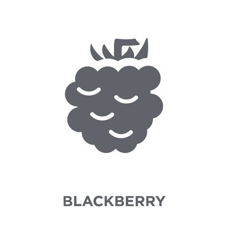 Blackberry icon. Blackberry design concept from Fruit and vegetables collection. Simple element vector illustration on white background. Çizim
