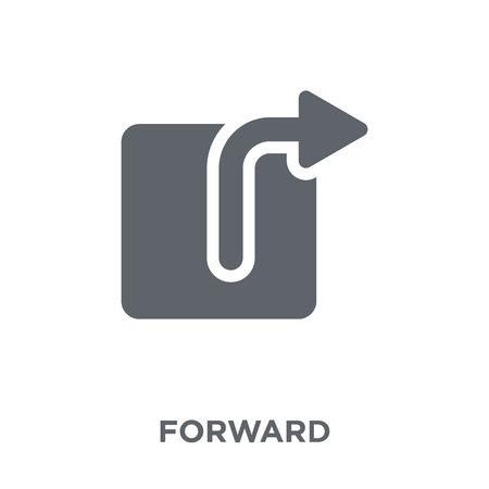 Forward icon. Forward design concept from  collection. Simple element vector illustration on white background. Illustration