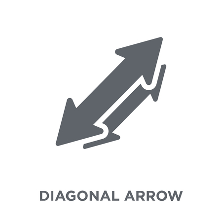 Diagonal arrow icon. Diagonal arrow design concept from  collection. Simple element vector illustration on white background. Ilustrace