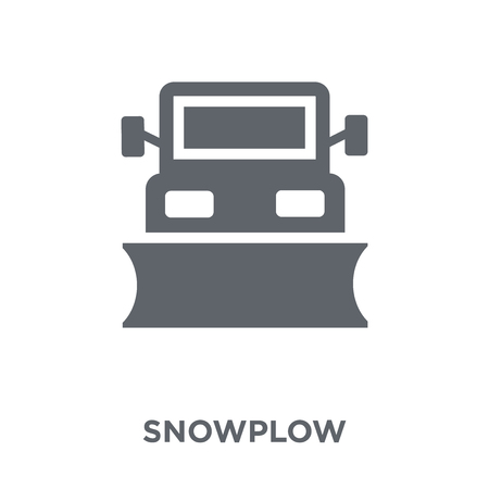 Snowplow icon. Snowplow design concept from  collection. Simple element vector illustration on white background. Imagens - 112417217