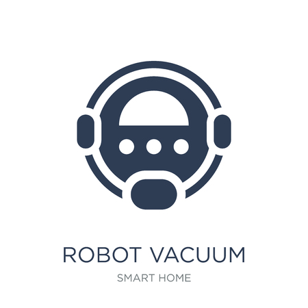 Robot vacuum cleaner icon. Trendy flat vector Robot vacuum cleaner icon on white background from smart home collection, vector illustration can be use for web and mobile, eps10