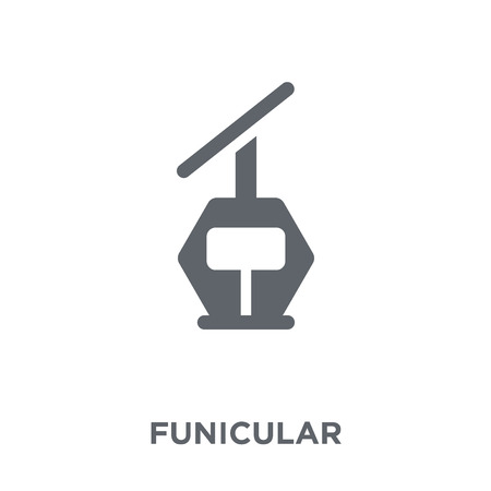 Funicular icon. Funicular design concept from Summer collection. Simple element vector illustration on white background. 스톡 콘텐츠 - 112417218