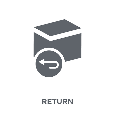 Zurück-Symbol. Designkonzept aus der Sammlung zurückgeben. Einfache Elementvektorillustration auf weißem Hintergrund. Vektorgrafik