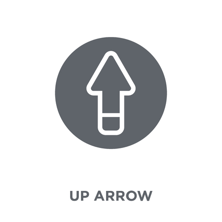 Up arrow icon. Up arrow design concept from  collection. Simple element vector illustration on white background.
