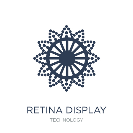 Retina display icon. Trendy flat vector Retina display icon on white background from Technology collection, vector illustration can be use for web and mobile, eps10