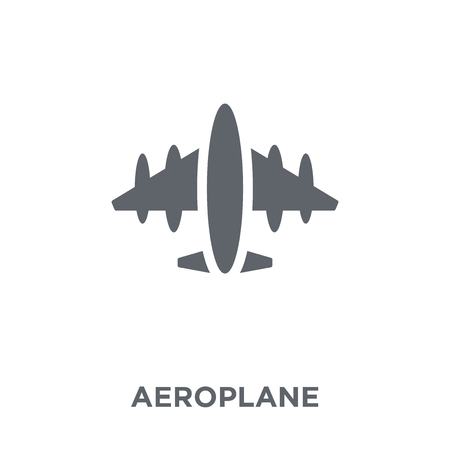 Aeroplane icon. Aeroplane design concept from  collection. Simple element vector illustration on white background.