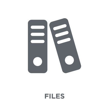Files icon. Files design concept from  collection. Simple element vector illustration on white background.