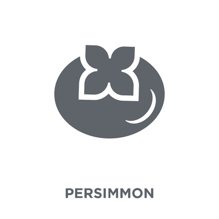 Persimmon icon. Persimmon design concept from Fruit and vegetables collection. Simple element vector illustration on white background.