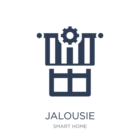 Jalousie automation icon. Trendy flat vector Jalousie automation icon on white background from smart home collection, vector illustration can be use for web and mobile, eps10 Иллюстрация
