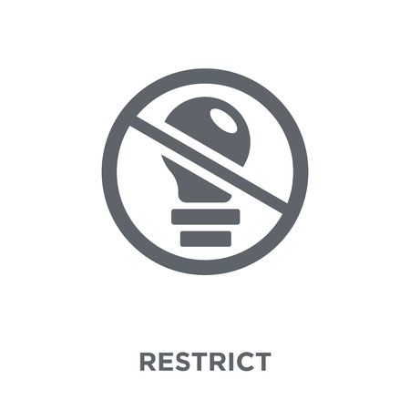 Restrict icon. Restrict design concept from Startup collection. Simple element vector illustration on white background.