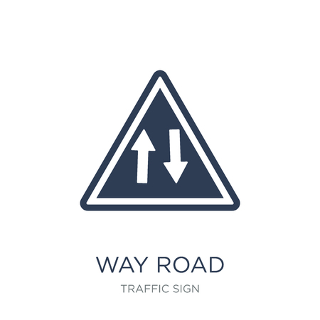 Way road sign icon. Trendy flat vector Way road sign icon on white background from traffic sign collection, vector illustration can be use for web and mobile, eps10