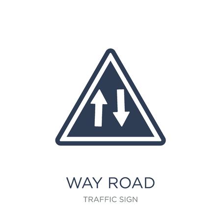 Weg-Schild-Symbol. Trendiges flaches Vektor-Weg-Schild-Symbol auf weißem Hintergrund aus der Verkehrszeichensammlung, Vektorillustration kann für Web und Mobile verwendet werden, eps10