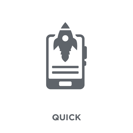 Quick icon. Quick design concept from  collection. Simple element vector illustration on white background.