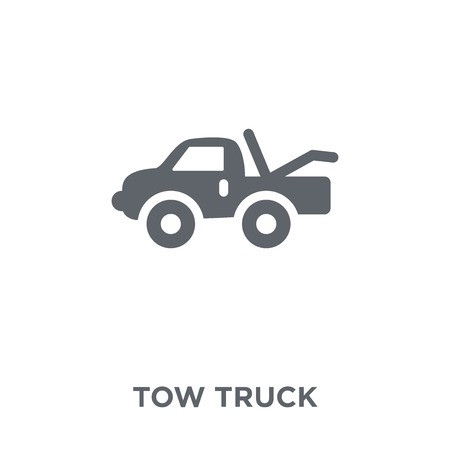 Tow truck icon. Tow truck design concept from  collection. Simple element vector illustration on white background.