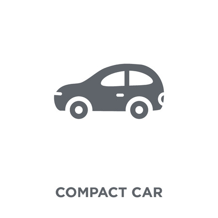 compact car icon. compact car design concept from Transportation collection. Simple element vector illustration on white background.