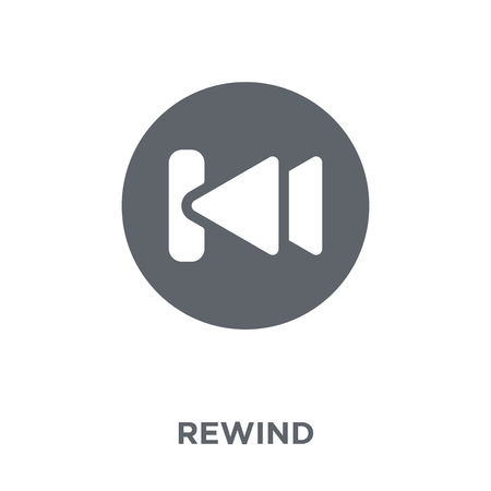 Rewind icon. Rewind design concept from  collection. Simple element vector illustration on white background.