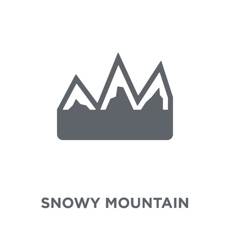 snowy Mountain icon. snowy Mountain design concept from Winter collection. Simple element vector illustration on white background. Ilustração