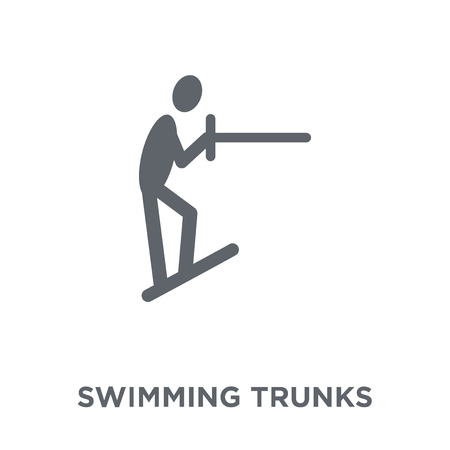 Swimming trunks icon. Swimming trunks design concept from Summer collection. Simple element vector illustration on white background. Ilustração