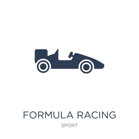 formula racing icon. Trendy flat vector formula racing icon on white background from sport collection, vector illustration can be use for web and mobile, eps10