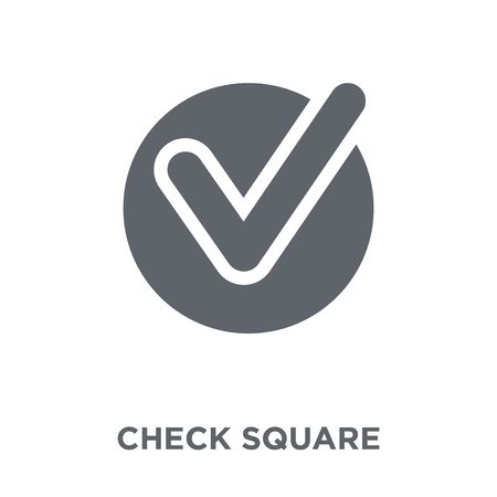 Check Square icon. Check Square design concept from Webnavigation collection. Simple element vector illustration on white background. Banque d'images - 112417418