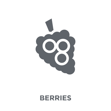 Berries icon. Berries design concept from Fruit and vegetables collection. Simple element vector illustration on white background.