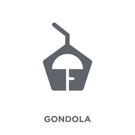 gondola icon. gondola design concept from Transportation collection. Simple element vector illustration on white background. Illustration