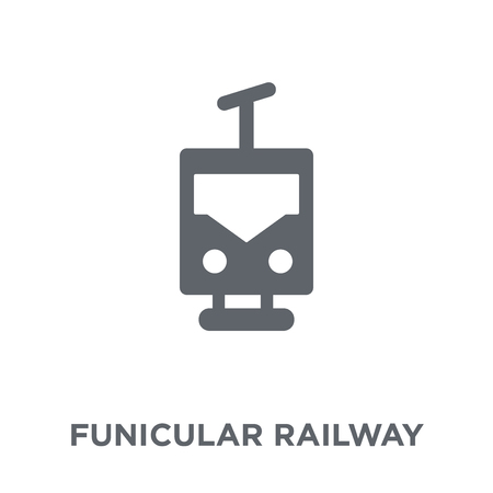 funicular railway icon. funicular railway design concept from Transportation collection. Simple element vector illustration on white background. Иллюстрация