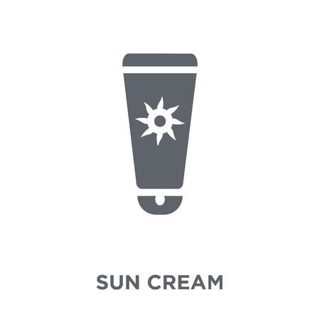 Sun cream icon. Sun cream design concept from  collection. Simple element vector illustration on white background. Stock Vector - 112417426