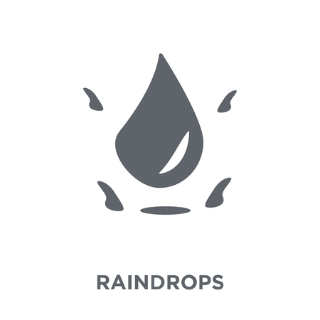 Raindrops icon. Raindrops design concept from  collection. Simple element vector illustration on white background.