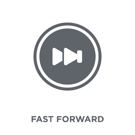 Fast forward icon. Fast forward design concept from collection. Simple element vector illustration on white background. Vektorové ilustrace